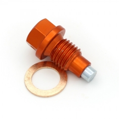 KTM MAGNETIC OIL DRAIN PLUG BOLT KTM SX/SXF/EXC/EXC-F (M12x1.5x20) ORANGE