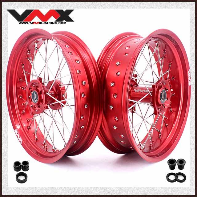 VMX 3.5/5.0 Supermoto Wheels Set Fit HUSQVARNA TE/TC/TXC